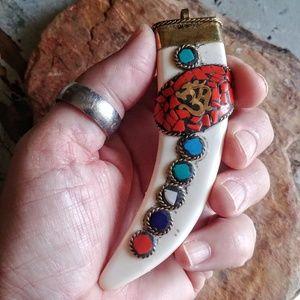 Jewelry - Tibetan OM Horn Pendant